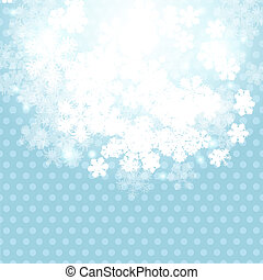 Christmas winter background with snowflake Vector...