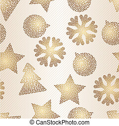 Christmas and Holidays seamless pattern. Vector illustration.