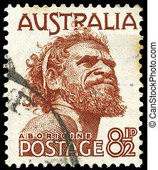 AUSTRALIA - CIRCA 1950 Aborigine - AUSTRALIA - CIRCA 1982: A...