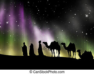 Kings of Orient in the Northern Lights