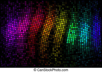 Abstract multicolor disco lights mosaic background