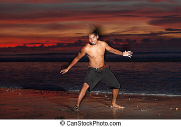 Capoeira at sunset
