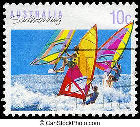 AUSTRALIA - CIRCA 1990 Sailboarding - AUSTRALIA - CIRCA...