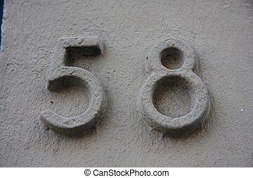 Number 58 - Number