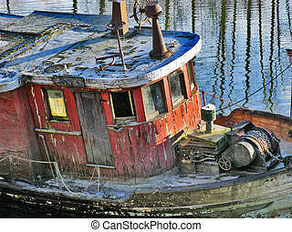 Derelict Boat - Old derelict boat on the Alouette River near...