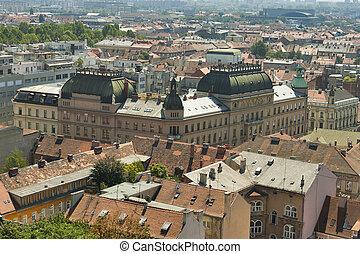 Zagreb cityscape - View of Zagreb architecture, Republic of...