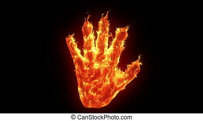 Burning hand