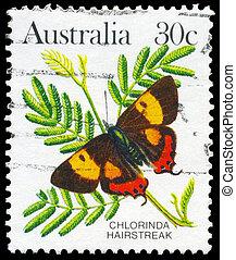 AUSTRALIA - CIRCA 1983 Chlorinda Hairstreak - AUSTRALIA -...