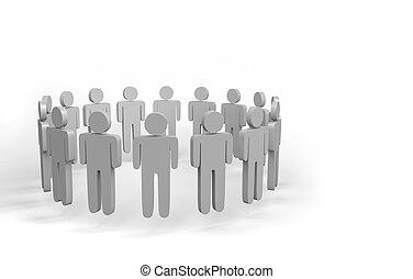 3d  people team