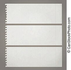 Creative design of three old paper - Three old paper