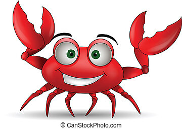 funny cartoon crabs - vector illustration of funny cartoon...