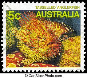 AUSTRALIA - CIRCA 1984 Tasseled Anglerfish - AUSTRALIA -...