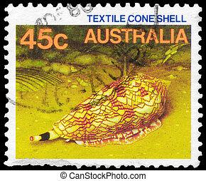 AUSTRALIA - CIRCA 1984 Textile Cone Shell - AUSTRALIA -...