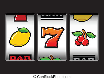 Slot Machine symbols illustration - Slot Machine symbols...