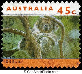 AUSTRALIA - CIRCA 1994 Koala on Tree - AUSTRALIA - CIRCA...