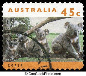 Australia, hacia,  -,  1994,  Koalas