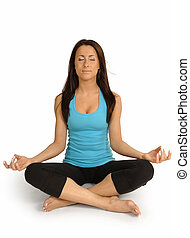 Yoga - Young beautiful female practicing Yoga