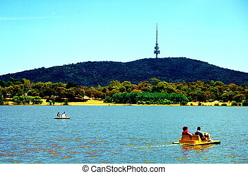 Fun at the lake - Family fun at lake burley griffin canberra...