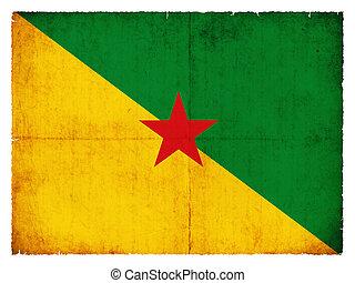 Grunge flag of French Guiana