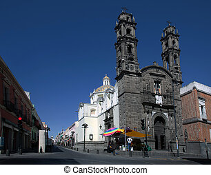 Church of San Cristobal in Puebla, Mexico - Church of San...
