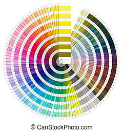 Pantone Color Palette - Pantone color palette guide isolated...