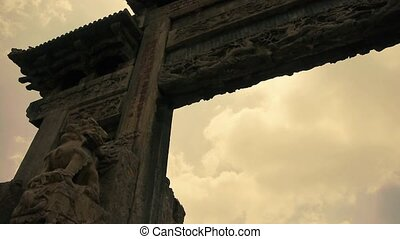 China stone arch building and ancient - China stone arch...