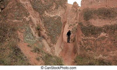 hiker - Adult male walking through Cappadocia