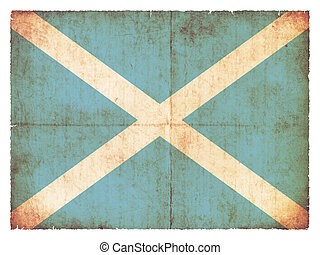 Grunge flag of San Andres and Providencia (Columbia) - Flag...