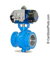 Stop valves high pressure with automatic drive