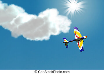 Stunt Plane - A small stunt plane doing tricks in the sky