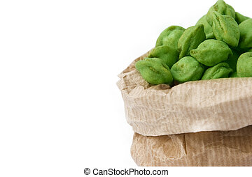 Wasabi Nuts - It shows a new japanese trend food: Masabi...