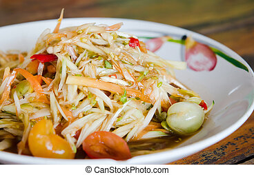 som tam - Som tam is favorite Thai spicy food