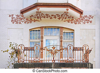 Art Nouveau style house in residential area in Wiesbaden,...