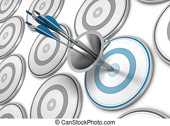 Marketing Funnel, Attract Consumer Concept - Many targets...