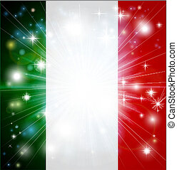 Italian flag background - Flag of Italy background with...