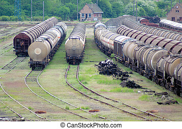 exchanger and train convoi, classic view