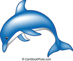 cute dolphin - vector illustration of cute dolphin