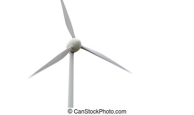 Wind turbine on white