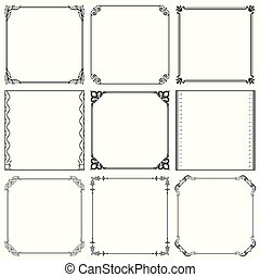 Decorative frames (set 37)