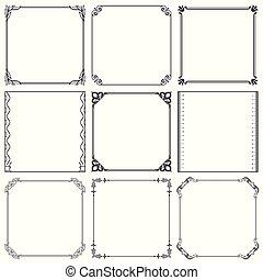 Decorative frames set 37