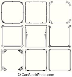 Decorative frames set 38