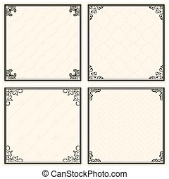 Decorative menu frames
