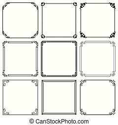 Decorative frames set 41