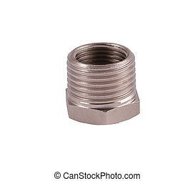 Reducer - tube adapter silver, with internal and external...