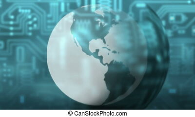 Earth abstract - globalization - Animation on Economy -...
