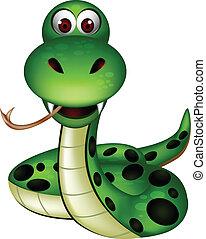 cute snake - vector illustration of cute snake