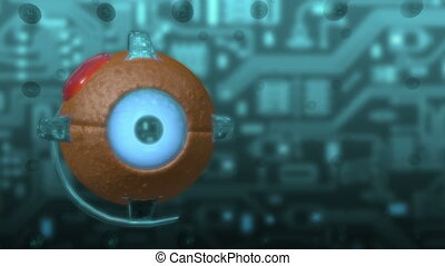 Eye - cyber technology - Abstract animation about...