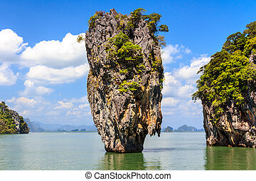 James Bond island Ko Tapu in Phang Nga bay