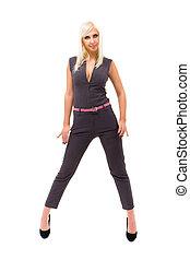 woman wearing a jumpsuit