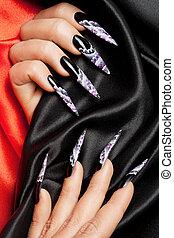 nail art close-up